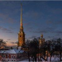 Зимним вечером в Петропавловской крепости :: Борис Борисенко