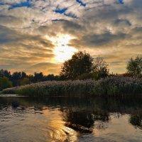 Вечер в заливе Днепра :: Валентина Данилова