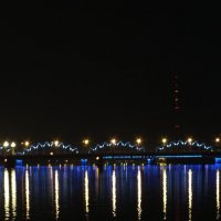 Ночной железнодорожный мост :: Ольга Цветкова