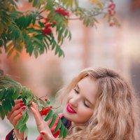 Нежно гладит куст рябины Осень тёплою рукой: :: Studia2Angela Филюта