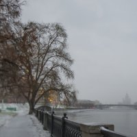 Первый снег потрогал город. :: Анатолий Корнейчук