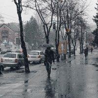 Укрывшись от снега :: Дмитрий Чернов