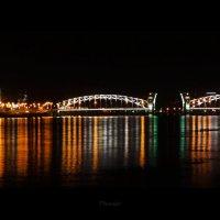 Вид на Смольный собор и  Мост Петра Великого (Большеохтинский мост) :: Анастасия Олишенко