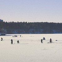 Рыбалка по первому льду. :: Мила Бовкун