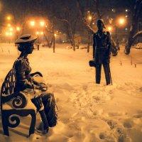 В сквере снежным вечером :: Ilona An