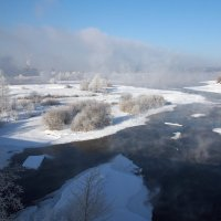 Мороз 30-и градусный,река вовсю парит... :: Александр Попов