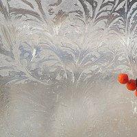 Красное на узорном стекле. :: Мила Бовкун