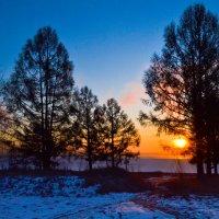 Заря на Обском море. :: cfysx