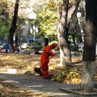 Выметая осень :: Наталья Джикидзе (Берёзина)