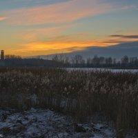 Ноябрьский вечер на Лебяжьем озере. :: Виктор Евстратов