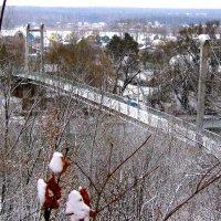 Пешеходный мостик через Оку зимой. :: Борис Митрохин