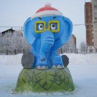 Слонёнок  в  шапочке. :: Алексей Рыбаков