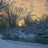 зимнее утро на реке :: Владимир Артюхов
