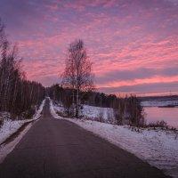 Зимний закат :: Андрей Евстифеев