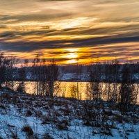 Закат в деревне :: Андрей Евстифеев