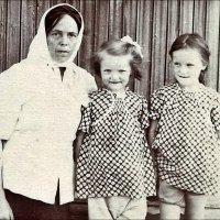 С племянницами.  1954 год :: Нина Корешкова