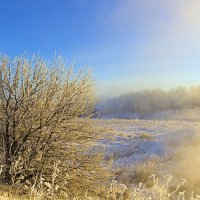 Туман в лучах солнца. :: Анатолий Круглов