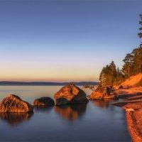 Колвицкое озеро. Полночь. :: Альберт Беляев