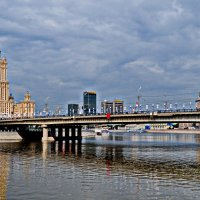 Бородинский мост и отель Украина :: Борис Александрович Яковлев