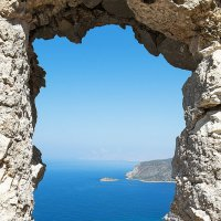 Вид из замка Монолитос, остров Родос, Греция :: Алеся Пушнякова