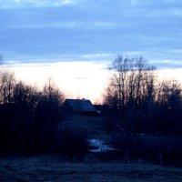 Декабрьская ночь в деревне. :: Андрей Скорняков