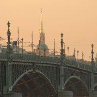Есть мосты мимо которых не пройти. Даже Пулковкский меридиан проходит. :: Владимир Гилясев