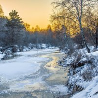 р.Барнаулка зимой :: Андрей Поляков