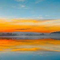Огненный закат :: Андрей Аблеков