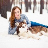 Фотосессия в зимнем лесу. :: Лилия Абзалова