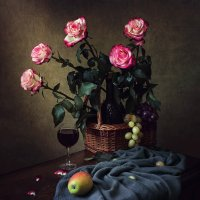 Натюрморт с букетом роз :: Ирина Приходько