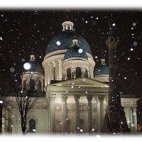 У Троицкого собора в новогоднюю ночь..... :: Tatiana Markova