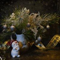 Snowman and Winter Bouquet :: Галина Galyazlatotsvet