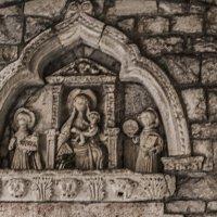 Керамическая икона на старой церкви, 11 век :: Marina Talberga