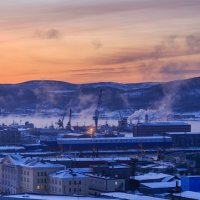 Мурманск. Полярная ночь. Мороз. :: Наталья Василькова