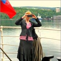 """Девушке, фотографировавшей меня весной в Мурманске на палубе парусника """"Крузенштерн""""... :: Кай-8 (Ярослав) Забелин"""