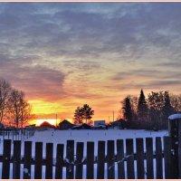 январское утро в деревне :: Геннадий Ячменев