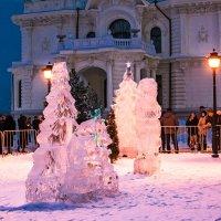 Ледовые фигуры в доме Асеева в Тамбове. :: Александр Тулупов