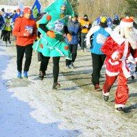 Дед Мороз бежит марафон :: раиса Орловская