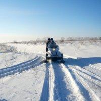 На снегоходе. :: Олег Афанасьевич Сергеев
