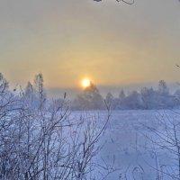 Закат в Шушенском :: Дмитрий Самарин