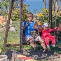 Дедушка рядышком с... внучечкой... :: Юлия Бабитко