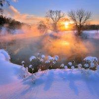 Очень морозный закат... :: Андрей Войцехов