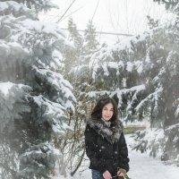 Виктория и Лола: зимняя прогулка :: Ксения Довгопол