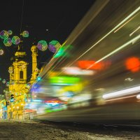 Ночь, улица, трамвай... :: Георгий Вапштейн