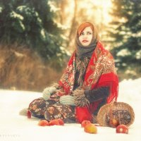 яблоки на снегу :: Ярослава Бакуняева