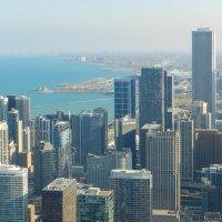 Вид на сев. часть г.Чикаго и оз.Мичиган :: Юрий Поляков