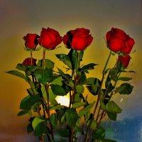 Розы на вечернем окне :: Сергей Чиняев