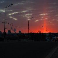 восход в морозное утро :: Лев Сергеев