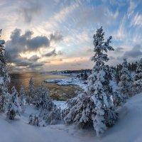 Зимний веер облаков. :: Фёдор. Лашков