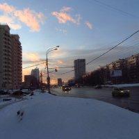 Вечер в городе (Март в январе) :: Андрей Лукьянов